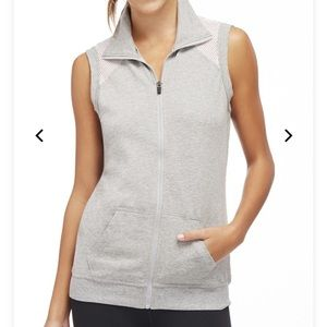 Fabletics Gray & White Temecula Vest Size Small